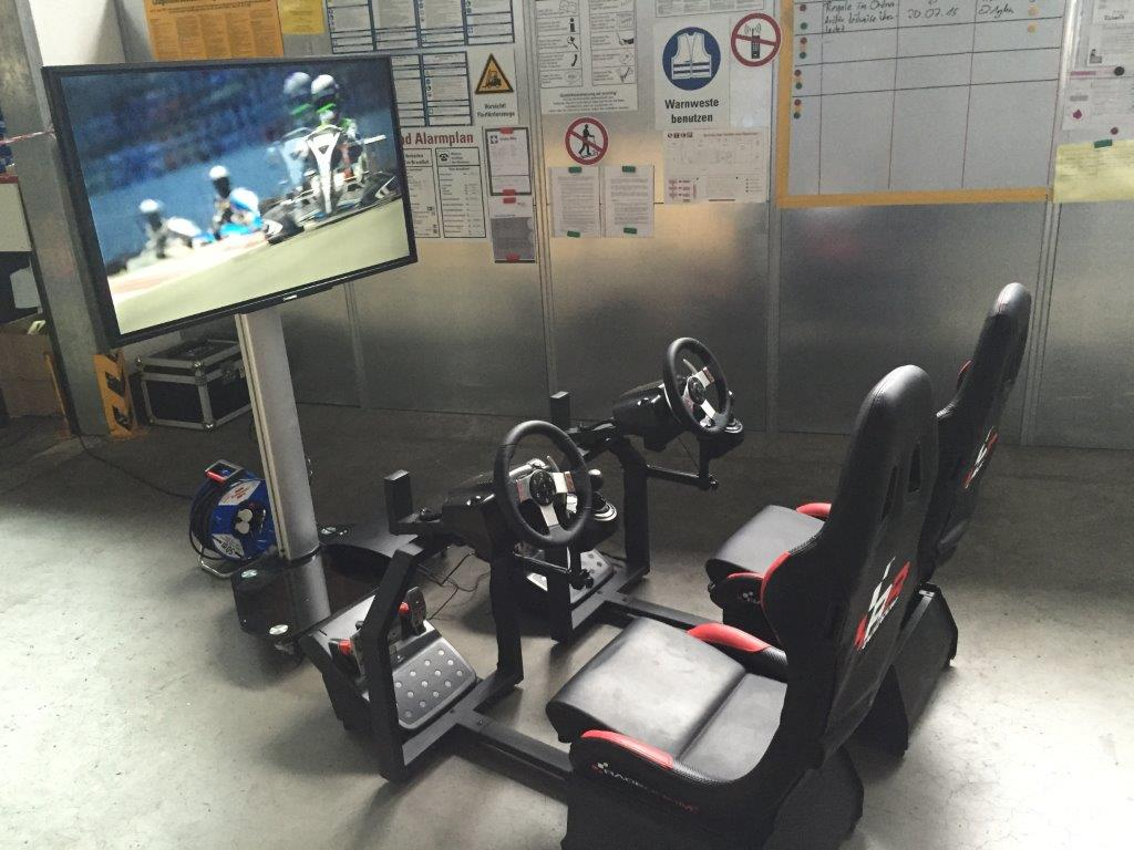 doppel rennsitz simulator racing seat mieten f r events eveprocom. Black Bedroom Furniture Sets. Home Design Ideas