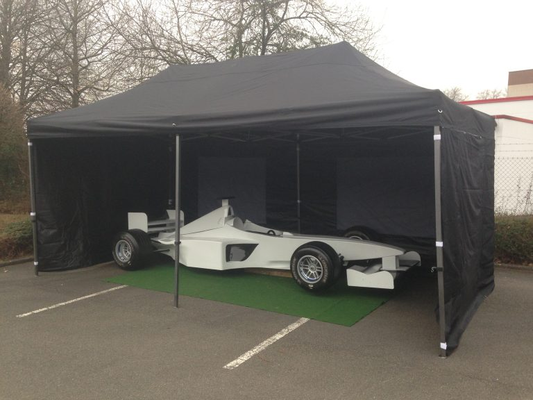 Formel 1 Simulator Zelt