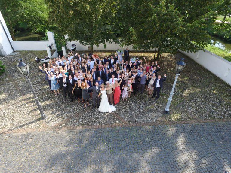 Hochzeitsfoto von oben