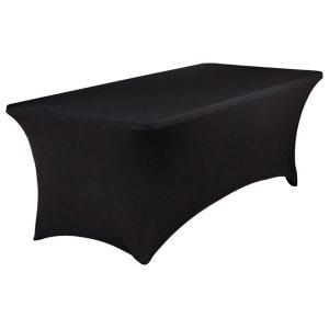 Stretchhusse Banketttisch schwarz