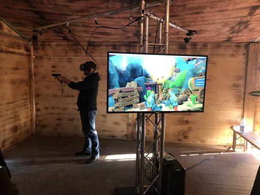 VR Revolver schießen